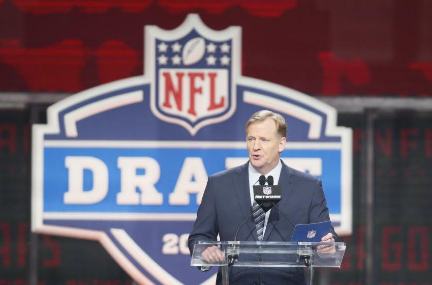 NFL commissioner Roger Goodell Mandatory Credit: Tim Heitman-USA TODAY Sports