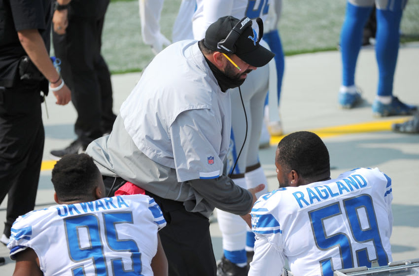 Matt Patricia, Detroit Lions - Mandatory Credit: Michael McLoone-USA TODAY Sports