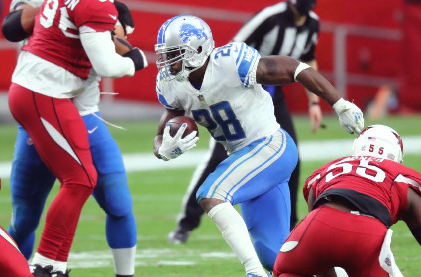 Adrian Peterson, Detroit Lions - Mandatory Credit: Billy Hardiman-USA TODAY Sports
