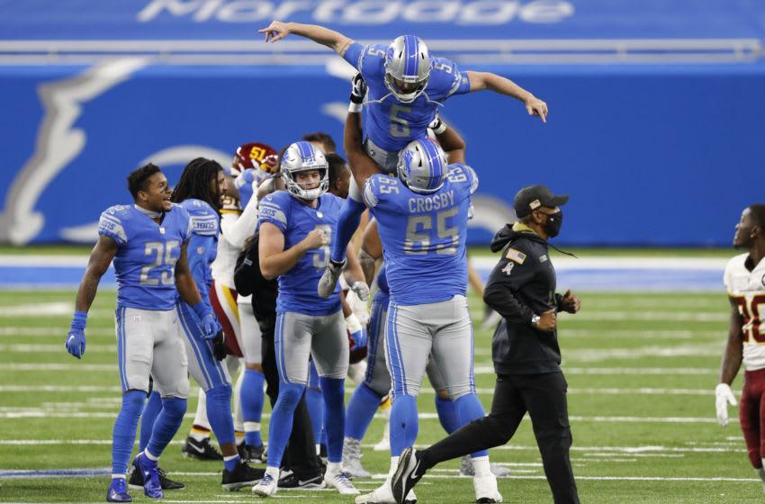 Matt Prater, Detroit Lions. Mandatory Credit: Raj Mehta-USA TODAY Sports