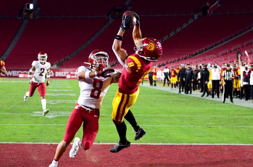 Amon-Ra St. Brown (8) USC Trojans. Mandatory Credit: Jayne Kamin-Oncea-USA TODAY Sports