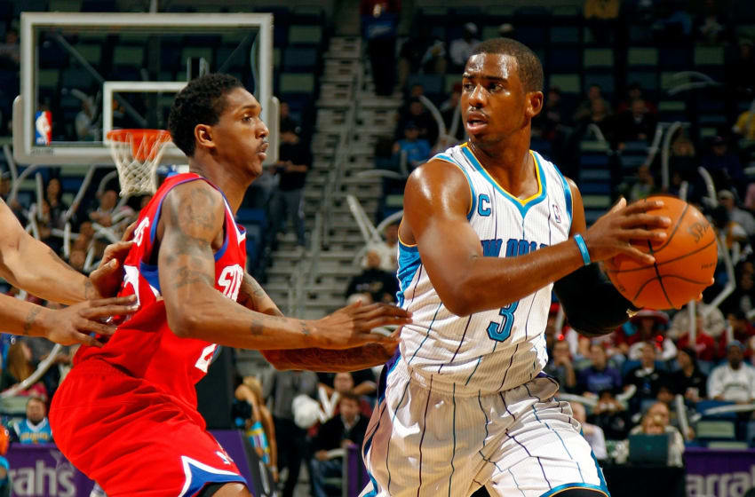 NBA New Orleans Hornets Chris Paul (Photo by Chris Graythen/Getty Images)