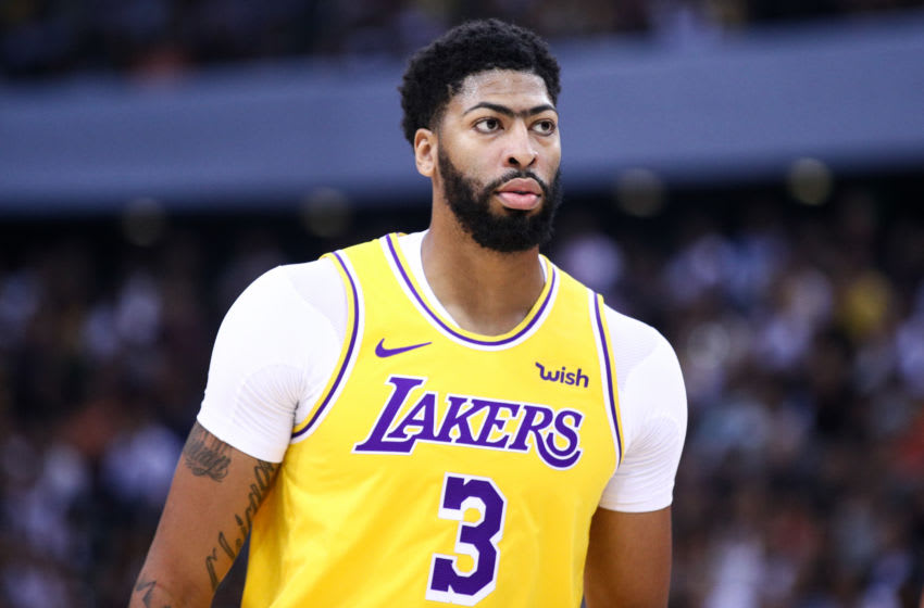 NBA Los Angeles Lakers Anthony Davis (Photo by Zhong Zhi/Getty Images)