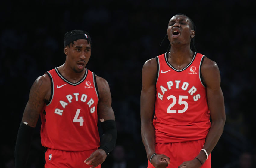 NBA Toronto Raptors Chris Boucher and Rondae Hollis-Jefferson (Photo by Harry How/Getty Images)