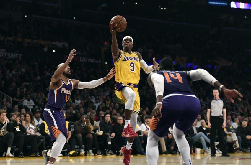 NBA Los Angeles Lakers Rajon Rondo (Photo by Kevork Djansezian/Getty Images)
