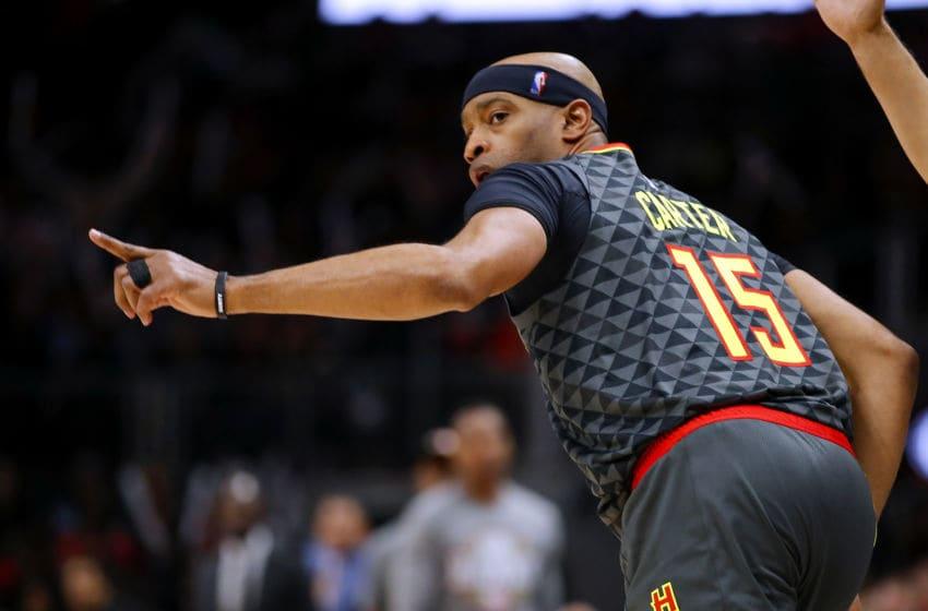 NBA Atlanta Hawks Vince Carter (Photo by Todd Kirkland/Getty Images)