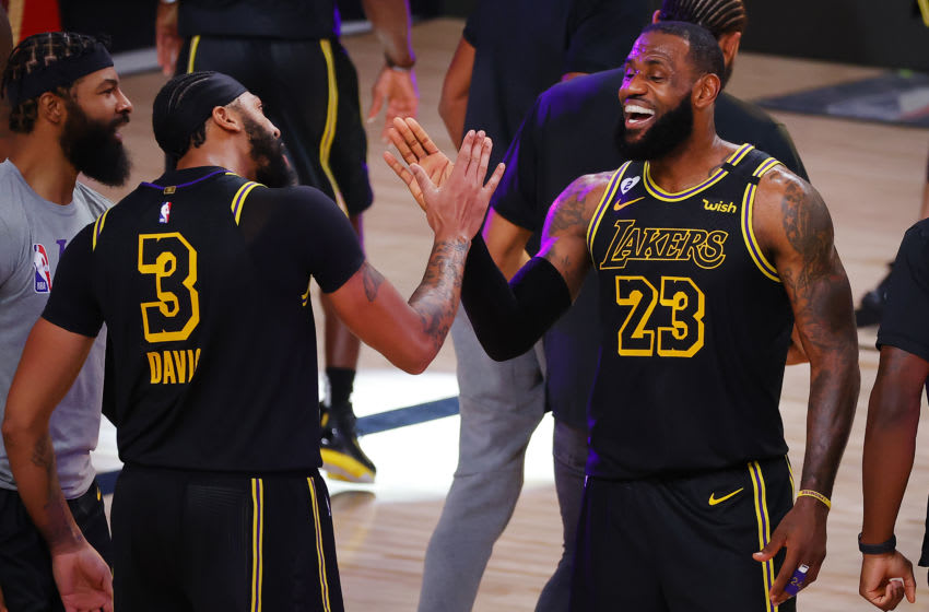 Los Angeles Lakers LeBron James and Anthony Davis (Photo by Kevin C. Cox/Getty Images)