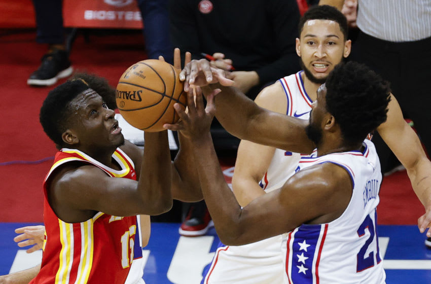 Joel Embiid and Clint Capela (Photo by Tim Nwachukwu/Getty Images)