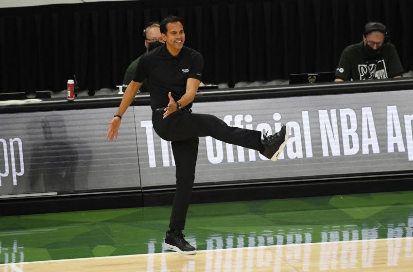 Miami Heat coach Erik Spoelstra (Photo by Quinn Harris/Getty Images)