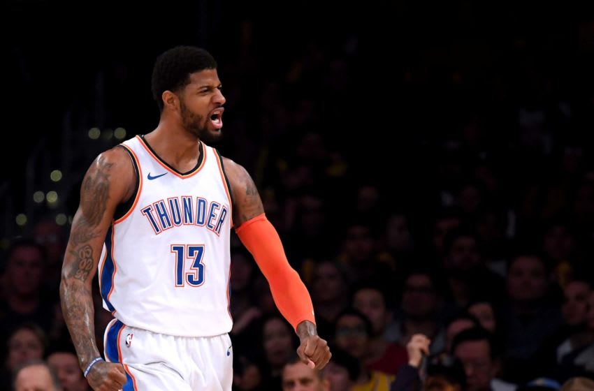 NBA Oklahoma City Thunder Paul George (Photo by Harry How/Getty Images)