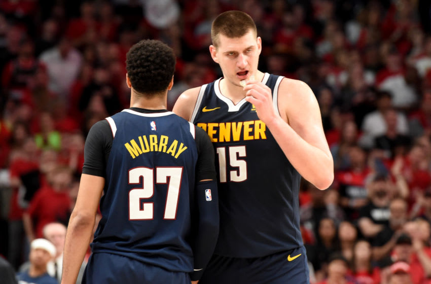NBA Denver Nuggets Jamal Murray and Nikola Jokic (Photo by Steve Dykes/Getty Images)
