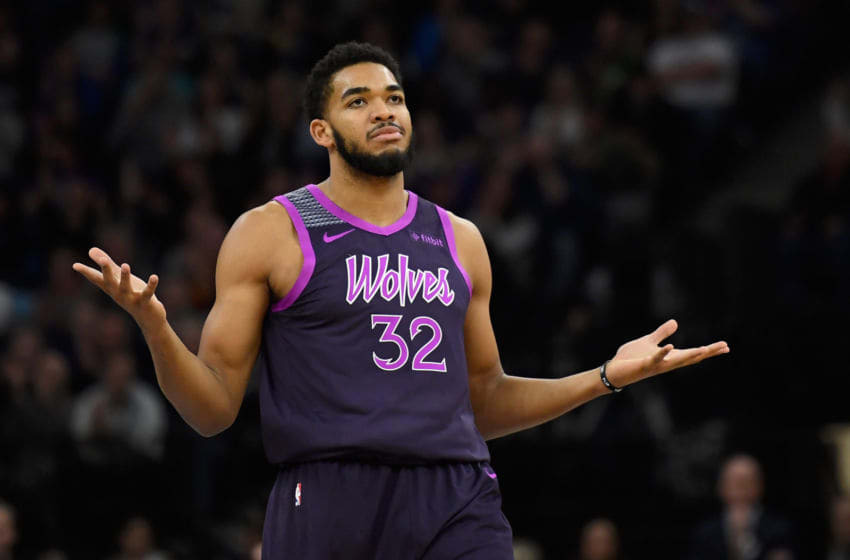 NBA Minnesota Timberwolves Karl-Anthony Towns (Photo by Hannah Foslien/Getty Images)