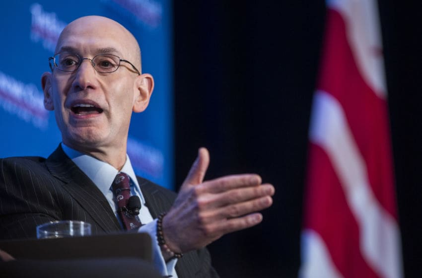 NBA Commissioner Adam Silver (Photo by Zach Gibson/Getty Images)