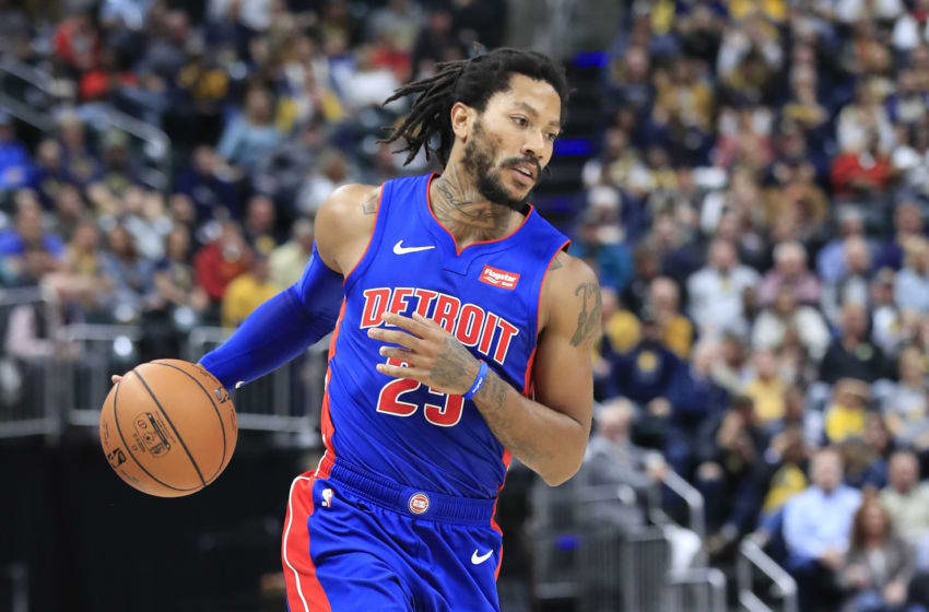 NBA Detroit Pistons Derrick Rose (Photo by Andy Lyons/Getty Images)