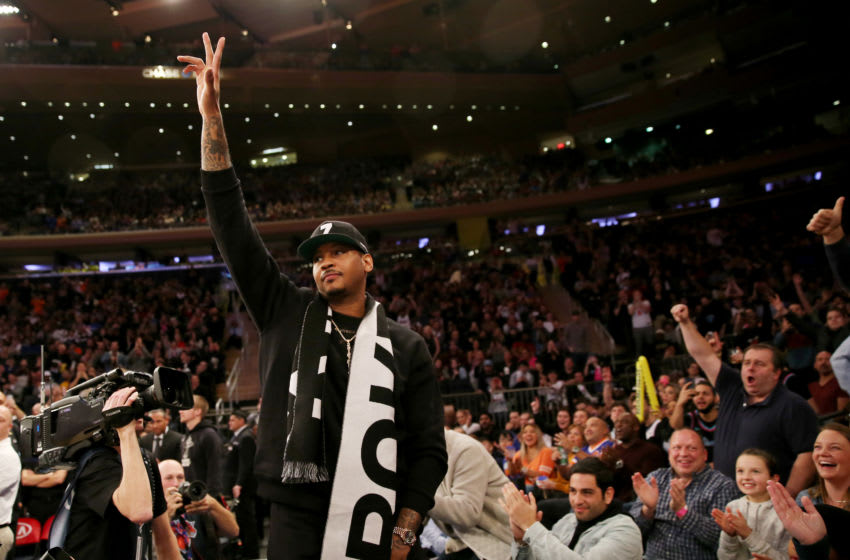 New Portland Trail Blazers forward Carmelo Anthony (Photo by Elsa/Getty Images)