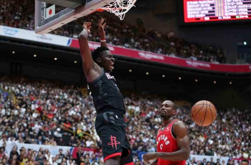 NBA Houston Rockets Clint Capela (Photo by Takashi Aoyama/Getty Images)