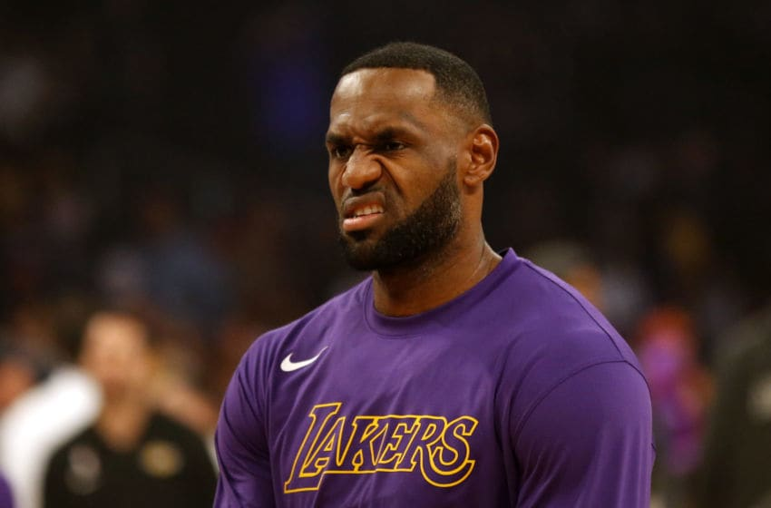 Los Angeles Lakers forward LeBron James (Photo by Katharine Lotze/Getty Images)