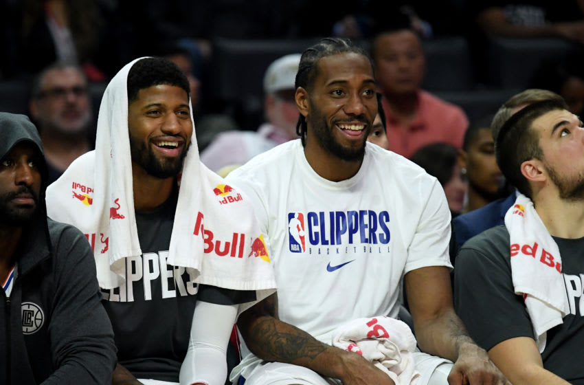 NBA LA Clippers Paul George and Kawhi Leonard (Photo by Harry How/Getty Images)