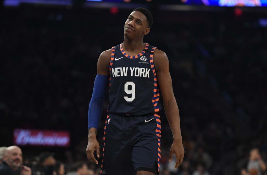 New York Knicks RJ Barrett (Photo by Sarah Stier/Getty Images)