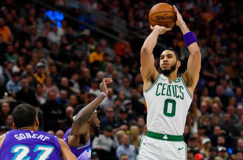 NBA Boston Celtics Jayson Tatum (Photo by Alex Goodlett/Getty Images)