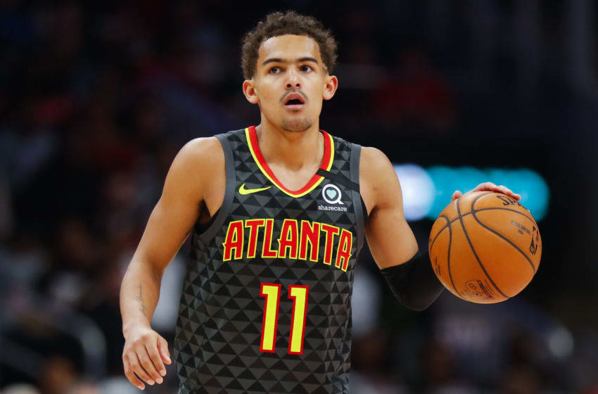 NBA Atlanta Hawks Trae Young (Photo by Todd Kirkland/Getty Images)