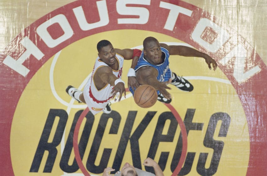 NBA Houston Rockets Hakeem Olajuwon (Photo by Allsport/Getty Images)