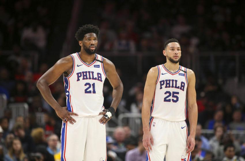 Philadelphia 76ers Joel Embiid and Ben Simmons (Brett Davis-USA TODAY Sports)