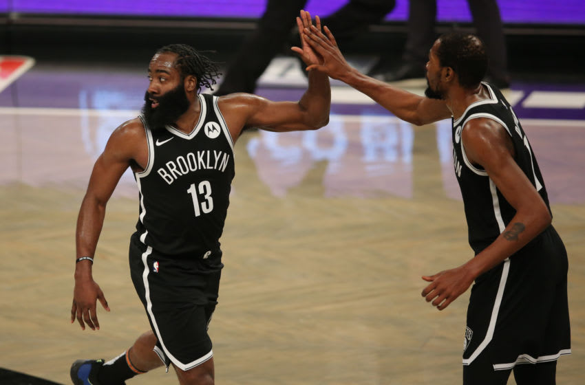 NBA Brooklyn Nets Kevin Durant James Harden (Brad Penner-USA TODAY Sports)