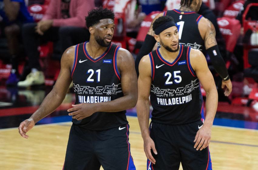 Philadelphia 76ers Joel Embiid and Ben Simmons (Bill Streicher-USA TODAY Sports)