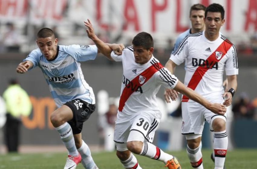 BUENOS AIRES, ARGENTINA - SEPTEMBER 23: Diego Martinez of River Plate in action during a match between River Plate and Racing Club as part of the round