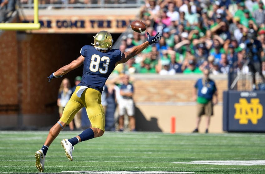 Notre Dame football's Chase Claypool (Photo by Quinn Harris/Getty Images)