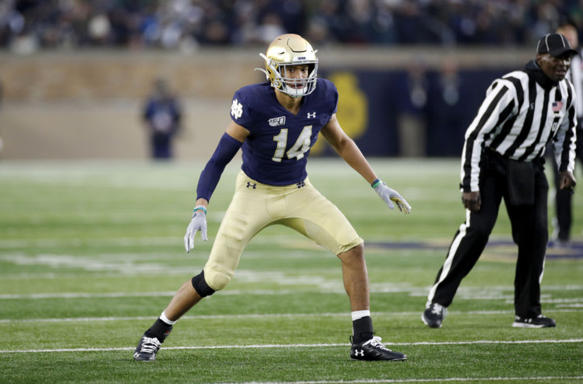 Kyle Hamilton #14 of the Notre Dame Fighting Irish (Photo by Joe Robbins/Getty Images)