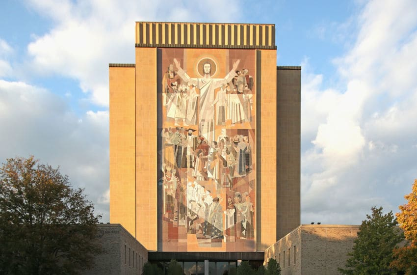 SOUTH BEND, IN - OCTOBER 19: A general view of the mural known as