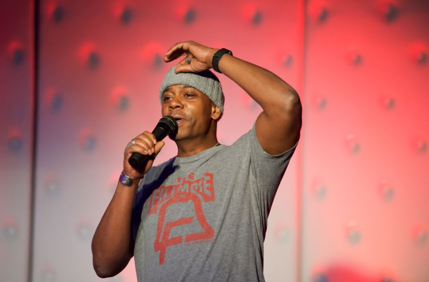 INGLEWOOD, CA - JANUARY 16: Comedian Dave Chappelle gives a surprise performance at the Birthday Celebration For Chris Spencer at The Savoy Entertainment Center on January 16, 2017 in Inglewood, California. (Photo by Earl Gibson III/Getty Images)