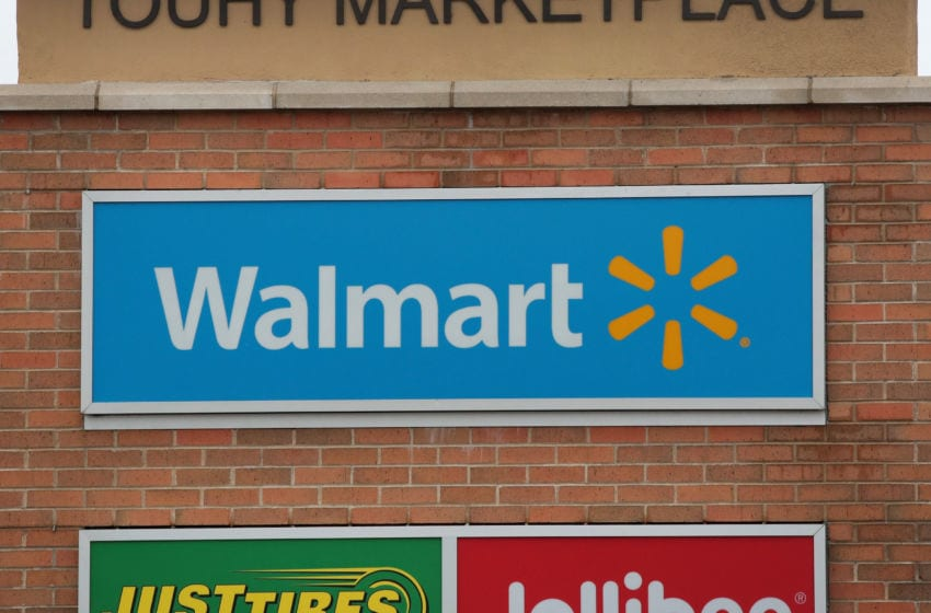 SKOKIE, IL - JANUARY 17: A sign hangs outside of a Walmart store on January 17, 2017 in Skokie, Illinois. Wal-Mart Stores Inc., the nation's largest employer, announced today that it plans to create approximately 10,000 retail jobs this year through the opening of 59 new, expanded and relocated Walmart and Sams Club facilities and e-commerce services. (Photo by Scott Olson/Getty Images)
