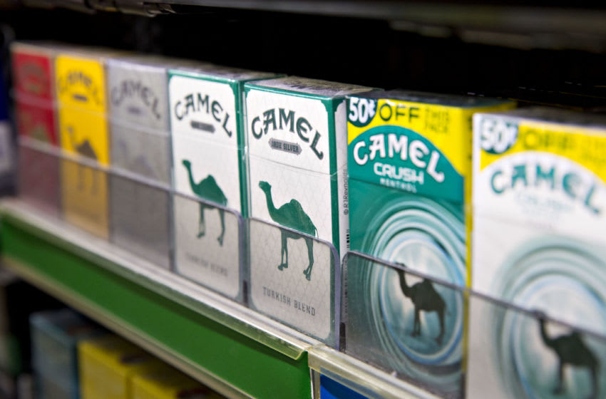 Reynolds American Inc. Camel brand cigarettes sit on display for sale at a gas station in Princeton, Illinois, U.S., on Tuesday, May 2, 2017. Reynolds American is scheduled to release earnings figures on May 3. Photographer: Daniel Acker/Bloomberg via Getty Images