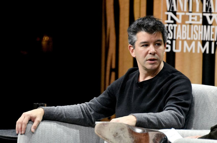 SAN FRANCISCO, CA - OCTOBER 19: Co-founder/CEO of Uber, Travis Kalanick, speaks onstage during 'The Übermensch' at the Vanity Fair New Establishment Summit at Yerba Buena Center for the Arts on October 19, 2016 in San Francisco, California. (Photo by Mike Windle/Getty Images for Vanity Fair)