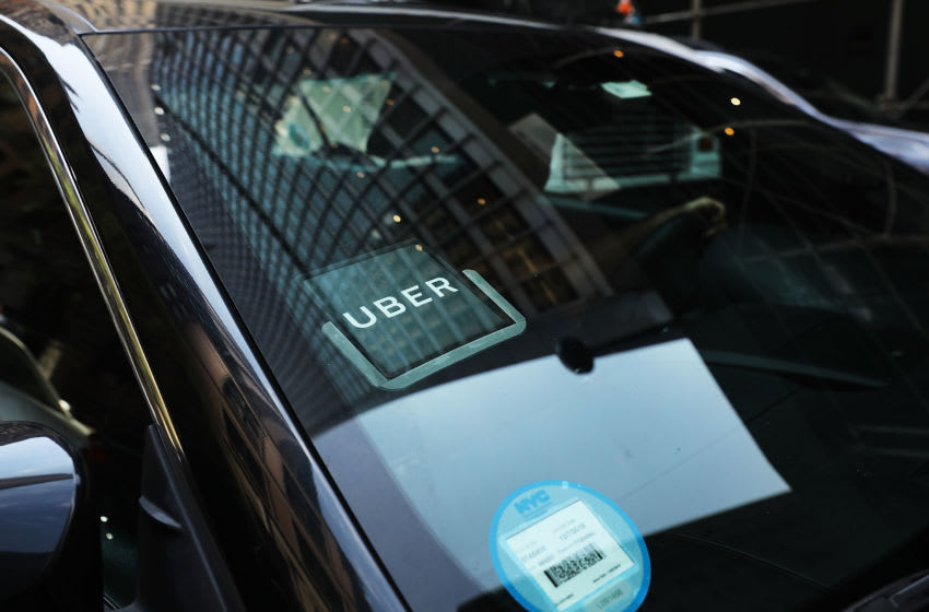 NEW YORK, NY - JUNE 14: An Uber car waits for a client in Manhattan a day after it was announced that Uber co-founder Travis Kalanick will take a leave of absence as chief executive on June 14, 2017 in New York City. The move came after former attorney general Eric H. Holder Jr. and his law firm, Covington