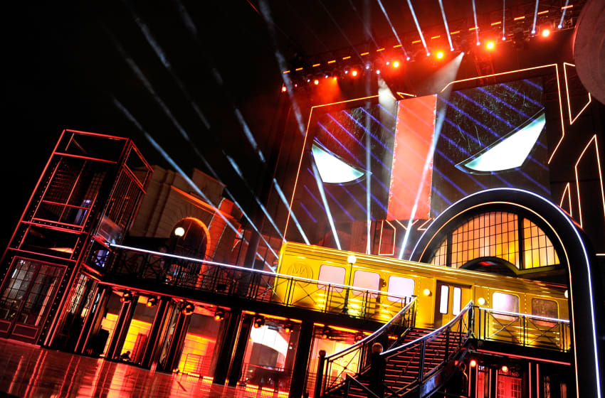 BURBANK, CALIFORNIA - APRIL 09: Projections insipired by 'Deadpool' are displayed onstage during the 2016 MTV Movie Awards at Warner Bros. Studios on April 9, 2016 in Burbank, California. MTV Movie Awards airs April 10, 2016 at 8pm ET/PT. (Photo by Emma McIntyre/Getty Images for MTV)