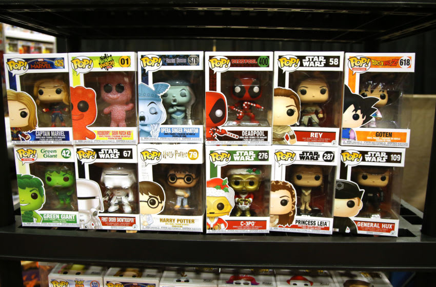 LAS VEGAS, NEVADA - MARCH 13: Funko Pop! vinyl figures are displayed during ToyCon 2020 at the Eastside Cannery Casino Hotel on March 13, 2020 in Las Vegas, Nevada. (Photo by Gabe Ginsberg/Getty Images)