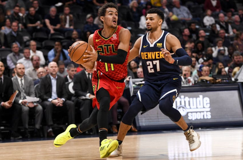 Trae Young (11) of the Atlanta Hawks (Photo by AAron Ontiveroz/The Denver Post via Getty Images)