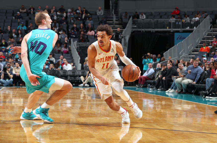 Trae Young #11 of the Atlanta Hawks (Photo by Kent Smith/NBAE via Getty Images)