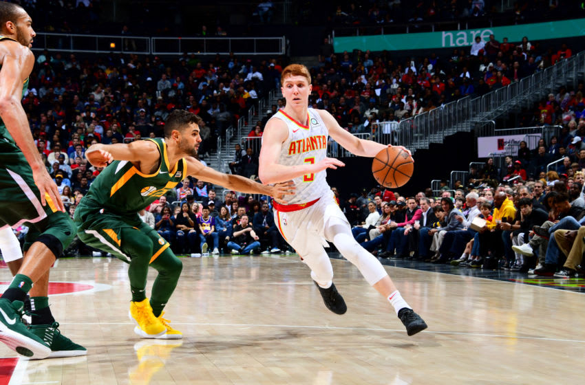 Kevin Huerter #3 of the Atlanta Hawks (Photo by Scott Cunningham/NBAE via Getty Images)