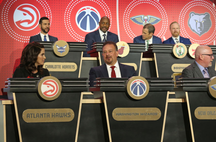 CHICAGO, IL - MAY 14: Raul Fernandez of the Washington Wizards attends the 2019 NBA Draft Lottery on May 14, 2019 at the Chicago Hilton in Chicago, Illinois. NOTE TO USER: User expressly acknowledges and agrees that, by downloading and/or using this photograph, user is consenting to the terms and conditions of the Getty Images License Agreement. Mandatory Copyright Notice: Copyright 2019 NBAE (Photo by Gary Dineen/NBAE via Getty Images)