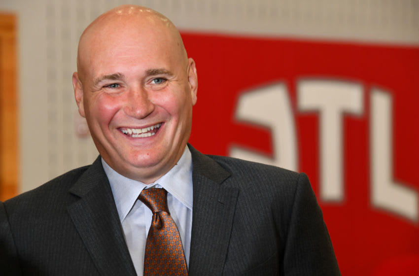 Atlanta Hawks GM Travis Schlenk (Photo by Scott Cunngham/NBAE via Getty Images)