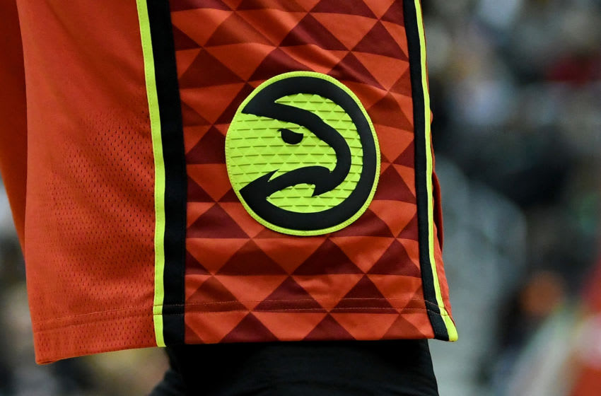 The Atlanta Hawks logo (Photo by G Fiume/Getty Images)