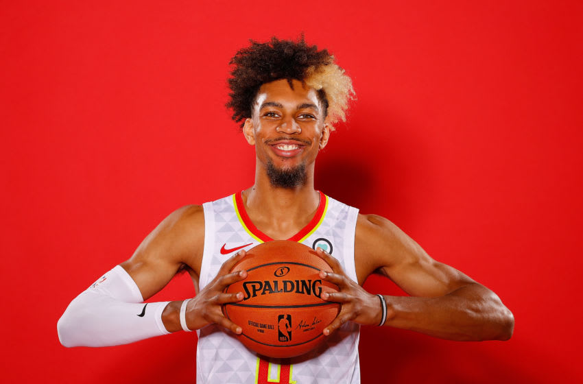 ATLANTA, GEORGIA - SEPTEMBER 30: Charlie Brown Jr. #4 of the Atlanta Hawks poses for portraits during media day at Emory Sports Medicine Complex on September 30, 2019 in Atlanta, Georgia. (Photo by Kevin C. Cox/Getty Images)