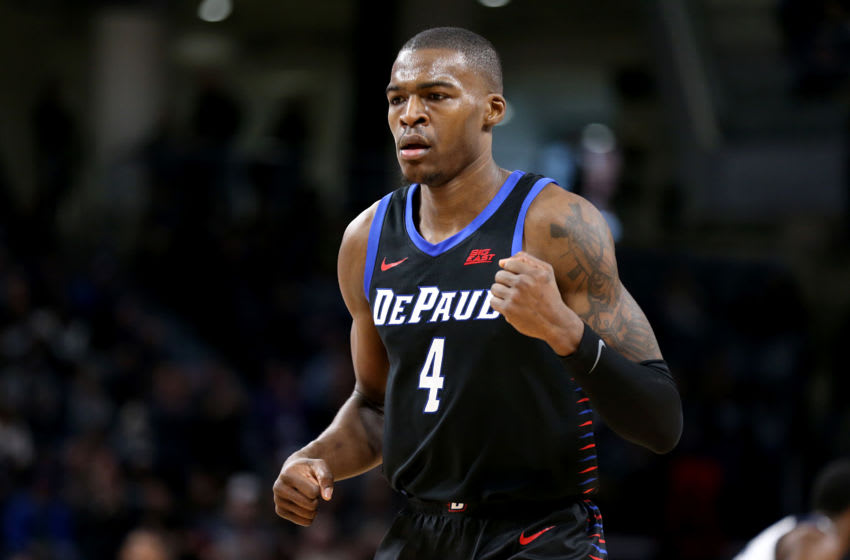 CHICAGO, ILLINOIS - JANUARY 18: Paul Reed #4 of the DePaul Blue Demons in action in the game against the Butler Bulldogs at Wintrust Arena on January 18, 2020 in Chicago, Illinois. (Photo by Justin Casterline/Getty Images)