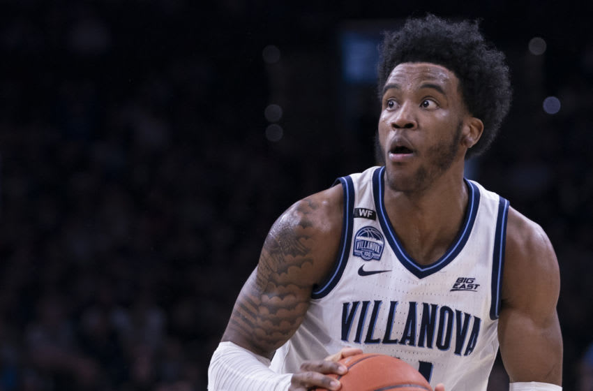 PHILADELPHIA, PA - FEBRUARY 29: Saddiq Bey #41 of the Villanova Wildcats controls the ball against the Providence Friars at the Wells Fargo Center on February 29, 2020 in Philadelphia, Pennsylvania. The Providence Friars defeated the Villanova Wildcats 58-54. (Photo by Mitchell Leff/Getty Images)
