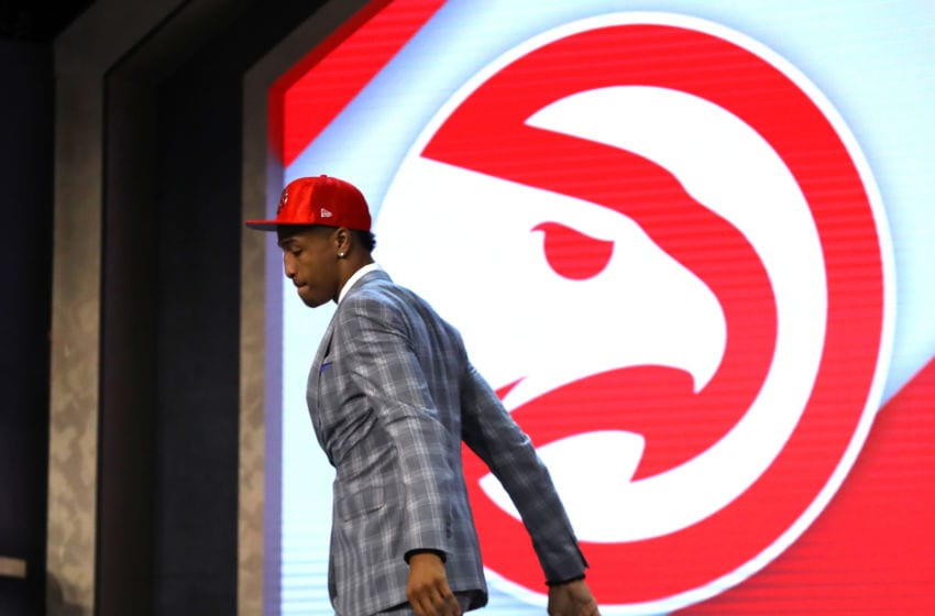 NEW YORK, NY - JUNE 22: John Collins walks off stage after being drafted 19th overall by the Atlanta Hawks during the first round of the 2017 NBA Draft at Barclays Center on June 22, 2017 in New York City. NOTE TO USER: User expressly acknowledges and agrees that, by downloading and or using this photograph, User is consenting to the terms and conditions of the Getty Images License Agreement. (Photo by Mike Stobe/Getty Images)